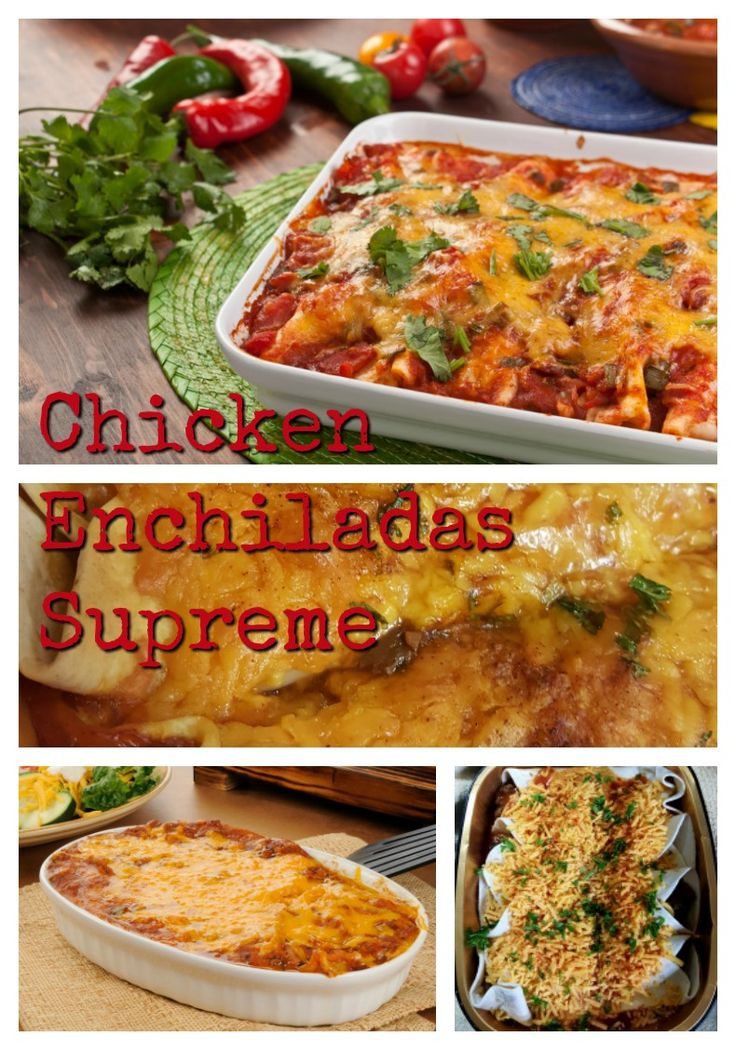 There are never enough leg portions or wings to go around so I am left with all the white meat! And when I have lots of leftover white meat, it goes without saying that our favorite chicken enchilada supreme is going to make the menu.