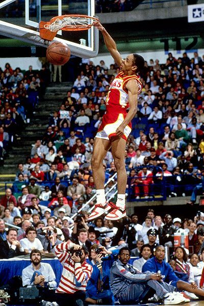"Happy Birthday: Spud Webb  July 13, 1963 - Anthony Jerome ""Spud"" Webb is a retired American NBA professional basketball point guard for the Atlanta Hawks most notable for winning a slam dunk contest despite being one of the shortest players in NBA history. He is currently the President of Basketball Operations for the Texas Legends, the D-League team for the Dallas Mavericks in Frisco, Texas.  keepinitrealsports.tumblr.com  keepinitrealsports.wordpress.com…"