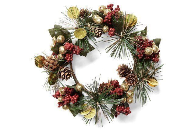 """4"""" Fireworks Candle Ring Wreath"""