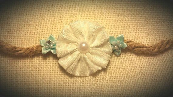 Simple Silk Flower Tieback / Hair Tieback / by BootsAndDirtRoads