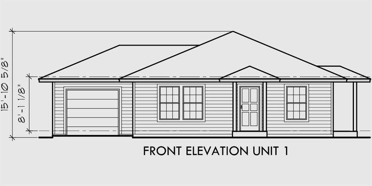 10 best ideas about duplex house plans on pinterest for Duplex plans for corner lots