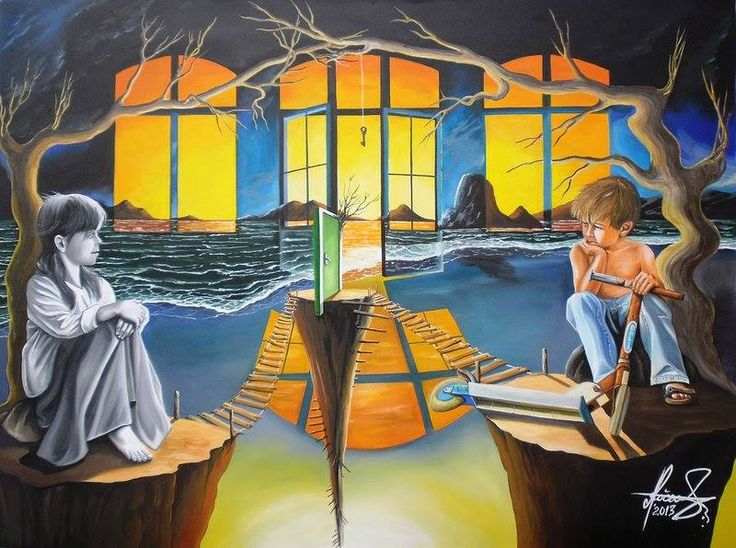 """""""Play With Me"""" - Oil on canvas.  #art #painter #painting #surrealism"""