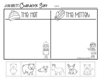 Jan Brett Comprehension Activities {The Hat & The Mitten} - Anchor Charts, Sequencing, Retelling, Comparing