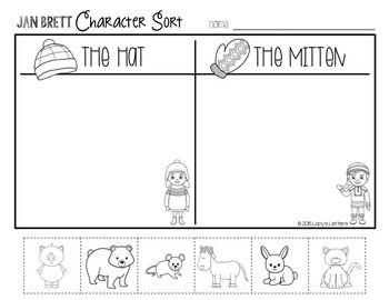 Jan Brett Comprehension Activities For The Hat Mitten