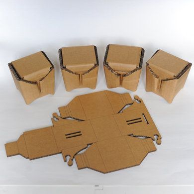 laser cut cardboard box template 3