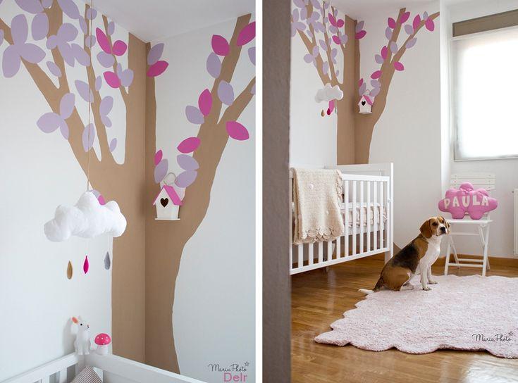 Monica diago un mural para una habitaci n infantil for Murales habitacion bebe