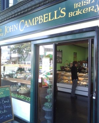 The incomparable John Campbell's Irish Bakery, right next to Blarney Stone. Everything here is unique and delicious.