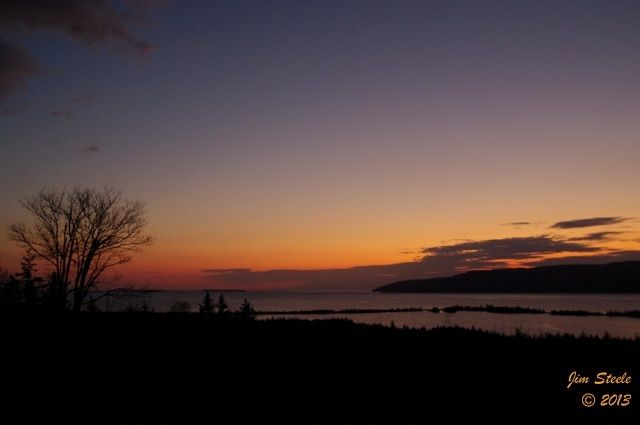 A very cloudy morning in Cape Breton with no visible sunrise. Because of this, Jim Steele shared this remarkable shot from November 13th, 2011. Enjoy!