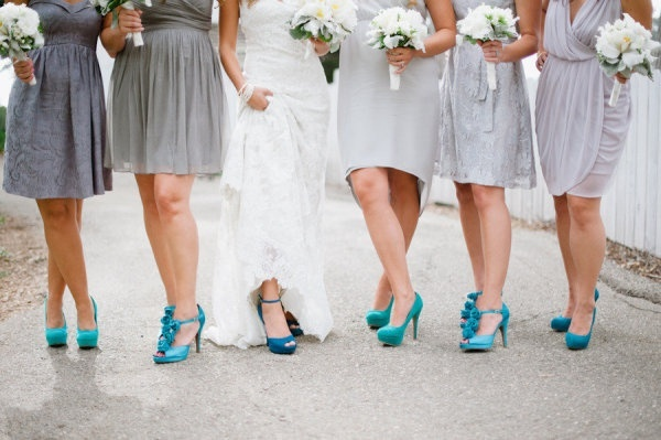 charcoal gray with turquoise shoes for my