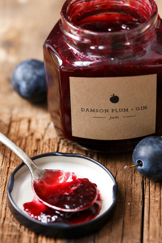 Damson Plum and Gin Jam : From 'love and olive oil'