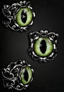 cats eye ring green