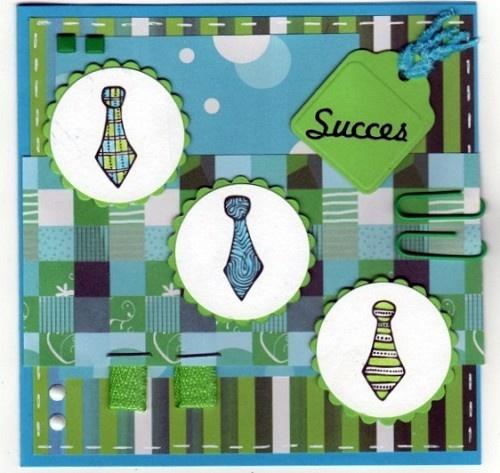Voorbeeldkaart - Succes - Categorie: Scrapkaarten - Hobbyjournaal uw hobby website
