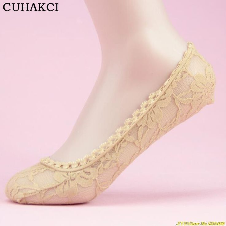 One Pair Price Women Sock Female Invisible Socket Slippers Shallow Mouth Summer Thin Lace Socks Ankle Heal Short Sock