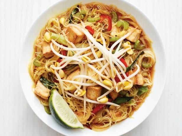 Get Singapore Noodles with Tofu Recipe from Food Network