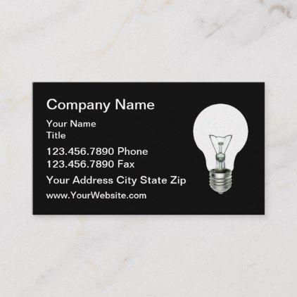 Technology Business Cards Light Bulb Design | Zazzle.com