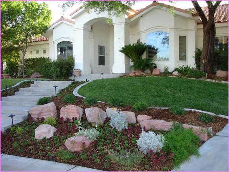 37 best images about landscaping on pinterest gardens for Drought tolerant front garden designs