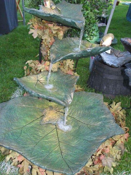 Concrete Elephant Ear Fountain Gardening Pinterest