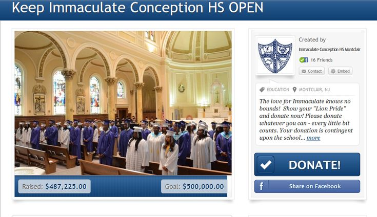 Alumni, Students, Family and Faculty Save a School; Immaculate Conception High School Will Stay Open