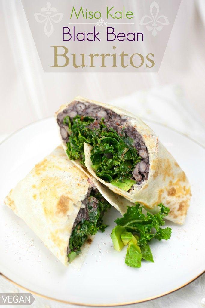 Miso Kale & Black Bean Burritos | Produce On Parade