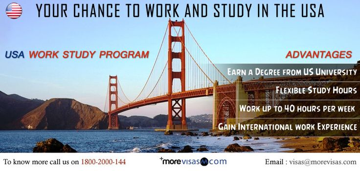 The USA Work Study Program permits international students to work off-campus with the American companies while pursuing their masters degree at an authorized US university. The Work Study Program is a combination of study and work which is especially suitable for adult students. http://www.morevisas.com/quick-enquiry/