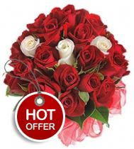Presenting a blissful color combination of red and white, this exquisite floral arrangement will definitely touch the heart of your loved ones in sheer delight and happiness. • A remarkable bunch of 20 red and white roses. • Meticulously wrapped in cellophane paper for that added elegance • Beautiful gift for any occasion http://flowershop18.in/flowers-to-gurgaon.aspx