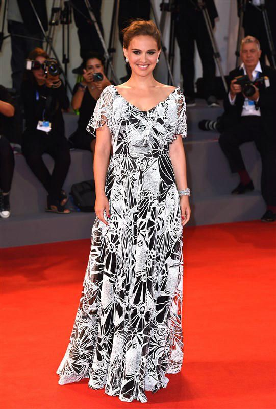 "Natalie Portman attends the ""Jackie"" film premiere during the Venice Film Festival in Italy on Sept. 7, 2016."