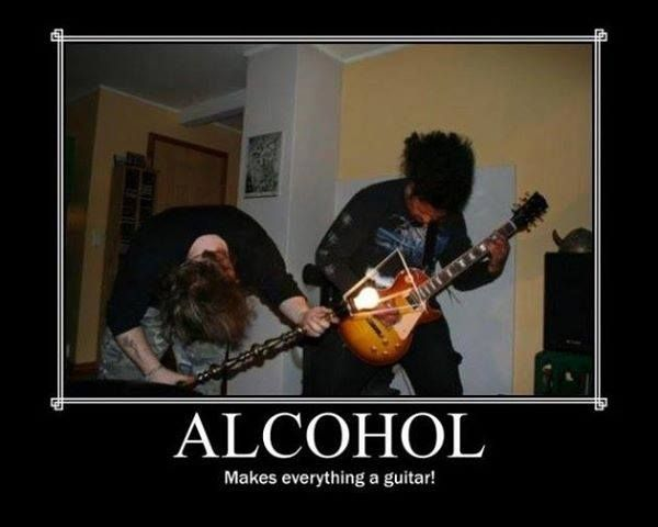 Alcohol Makes Everything A Guitar! Funny Guitar Memes