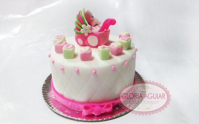 mini bolo carrinho baby