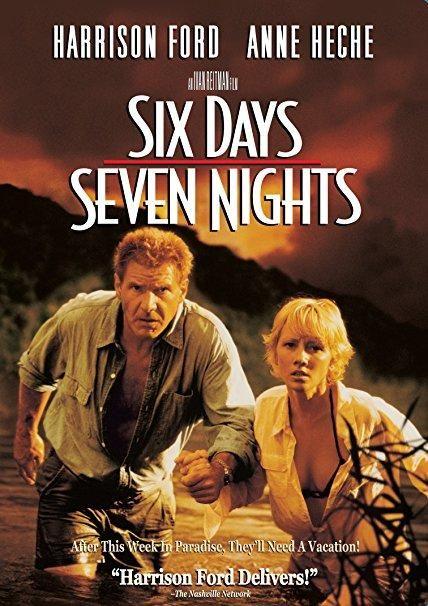 Six Days, Seven Nights (1998 / DVD) Harrison Ford, Anne Heche, David Schwimmer, Jacqueline Obradors, Temuera Morrison