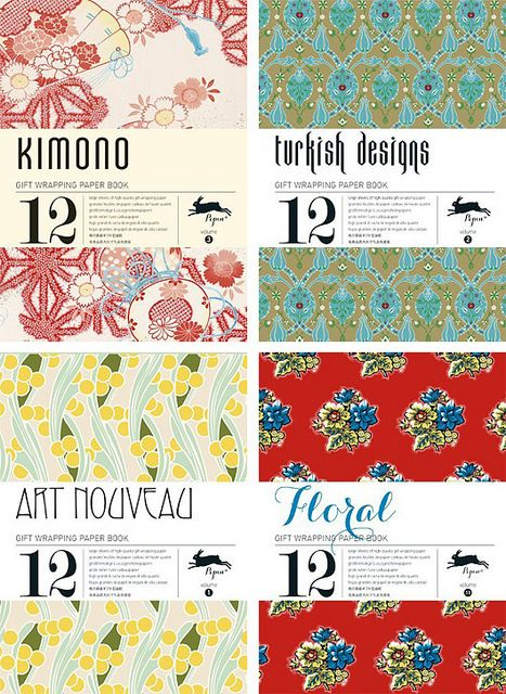 Pepin van Roojen Gift Wrapping Paper Books by decor8, via Flickr