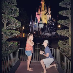 You could go for the traditional castle proposal at night: | 24 Ways To Get Engaged At The Disney Parks That Are Totally Magical