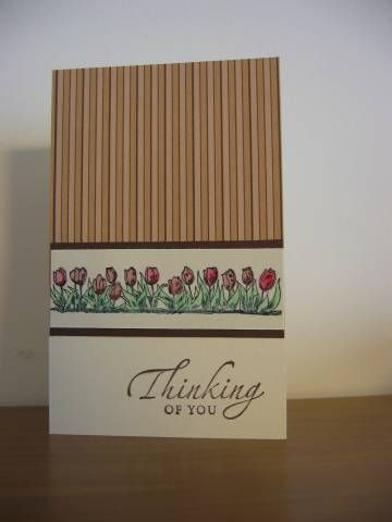 Sympathy Tulips -  Tulips stamp from Netherlands set by Stampin Up
