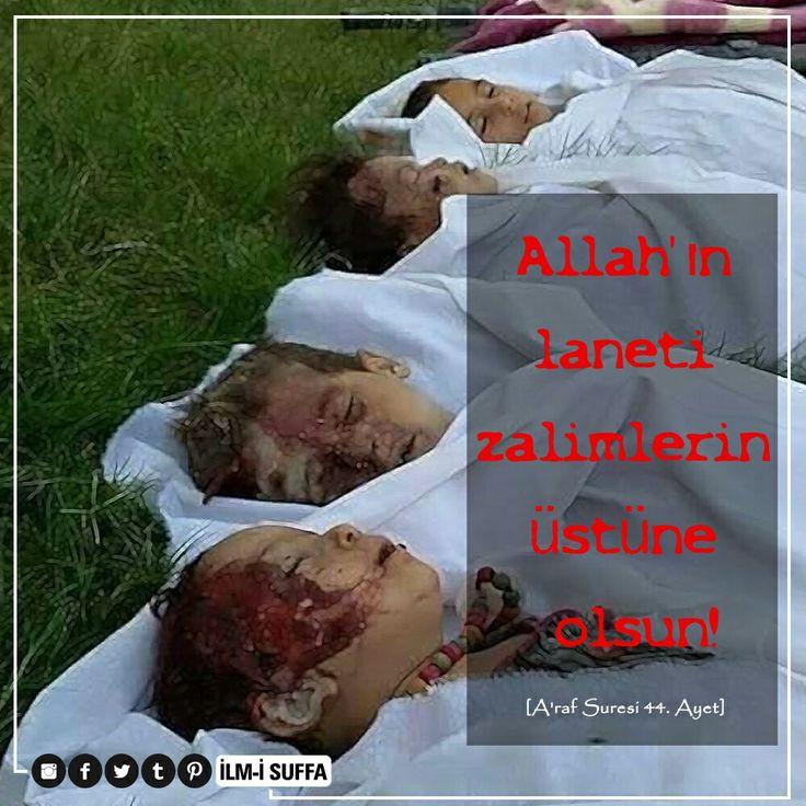 """☝ Bir de cennetlikler, cehennemliklere şöyle seslenirler:  """"Gerçekten biz, Rabbimizin bize vadettiğinin gerçek olduğunu bulduk. Siz de Rabbinizin size vadettiğinin gerçek olduğunu buldunuz mu?"""" Onlar da: """"Evet"""" derler.  Derken aralarında bir çağırıcı şöyle bağırmaya başlar:  """"Allah'ın laneti o zalimlerin üstüne olsun!""""  [A'raf Suresi 44. Ayet]  #cennet #suriye #halep #cehennem #zalim #çocuk #bebek #lanet #küfür #islam #müslüman #uyan #gece #dua #türkiye #ilmisuffa"""