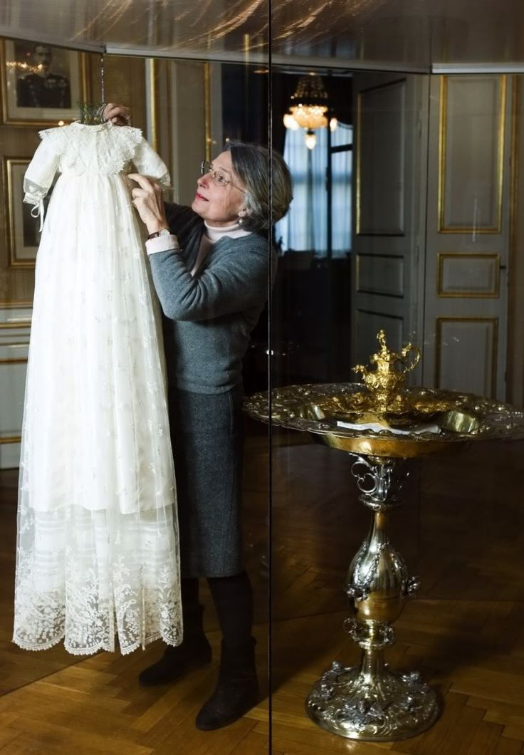 The Amalienborg Museum will display Christian Valdemar Henri John's christening robe, the royal baptismal font and the gold plate with its accompanying ewer and candlesticks