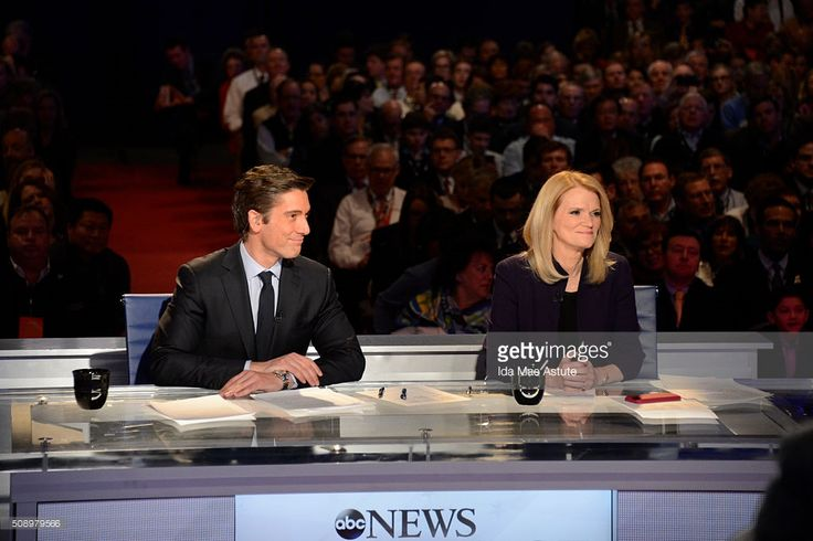 News' David Muir and Martha Raddatz host the Republican Debate from St. Anselm College in Manchester, NH, airing Saturday, Feb. 6, 2016 on the ABC Television Network and all ABC News platforms. DAVID