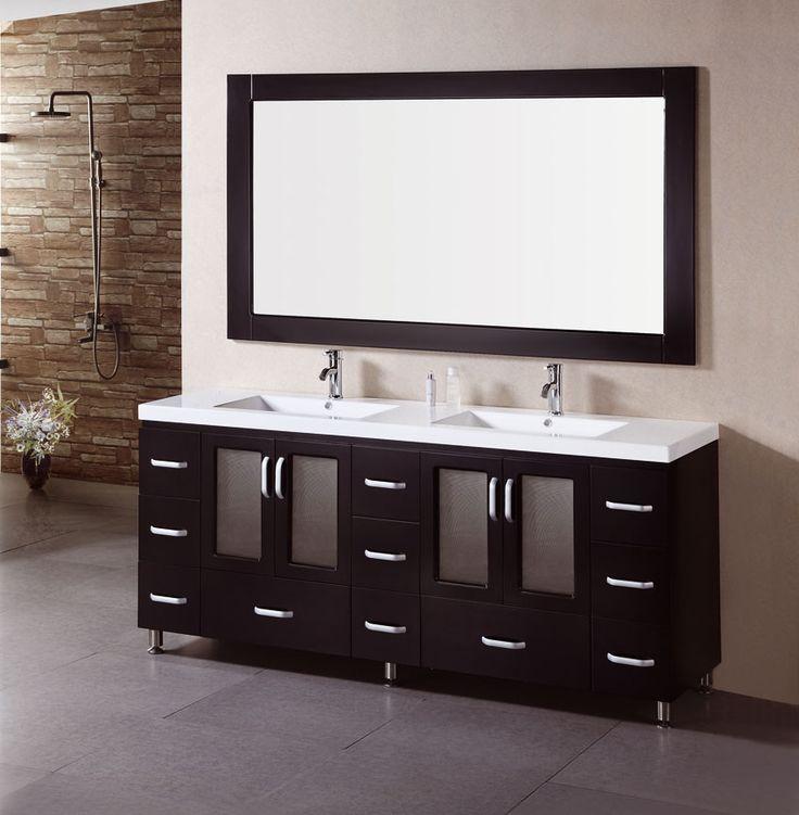 Design Element B72 Ds Stanton 72 Double Sink Bathroom Vanity Set With Drop In Sinks We Offer A