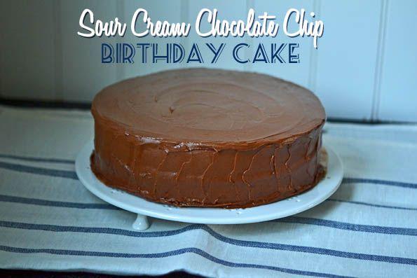 Gluten-Free Sour Cream Chocolate Chip Birthday Cake
