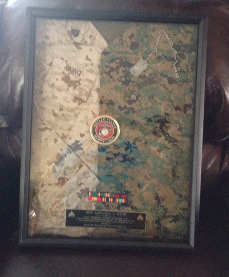 Marine Corps Shadow box, made for a Sgt who was getting out!