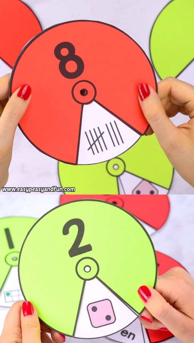 Printable Number Spinners 1 to 20 – Number Sense