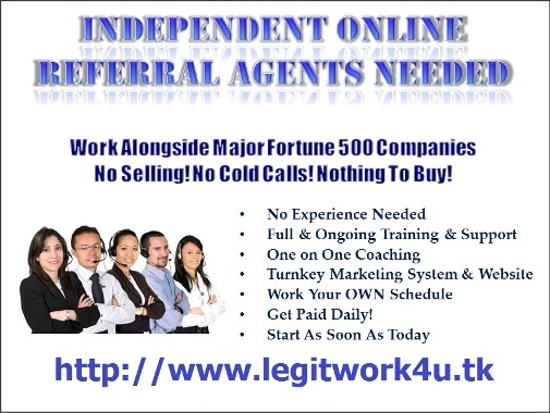 """Make REAL money, doing REAL work, for REAL companies who you are already are familiar with!! Post FREE online ads promoting Discover, Equifax, Disney, Walmart, Netflix & other well-known companies through a REAL BBB """"A"""" rated company, ZipNadaZilch, LLC. Excellent pay...and you can be Paid Daily!! Work when YOU want...Full or Part-time!! Exclusive training & support provided!! See proof of income!! GET IT ALL HERE:  http://www.legitwork4u.tk (USA, Canada & UK Only)"""