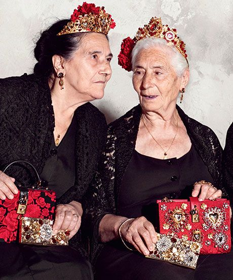 Dolce & Gabbana's Latest Ad Campaign Features Scene-Stealing Italian Grandmas #refinery29  http://www.refinery29.com/2014/12/79984/dolce-gabbana-grandmas