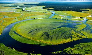 Likouala-aux-Herbes river near in Congo-Brazzaville.