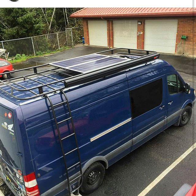 Nice shot of #aluminess roof rack from @the_wonderbus  #sprintervan #vanlife #roofrack