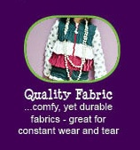 12 reasons why Peekaboo Beans is different from other kids clothing brands.  REASON #8 - QUALITY FABRIC