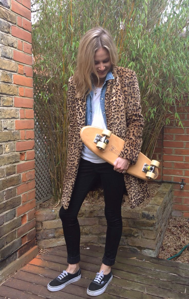 Penny board and leopard #style