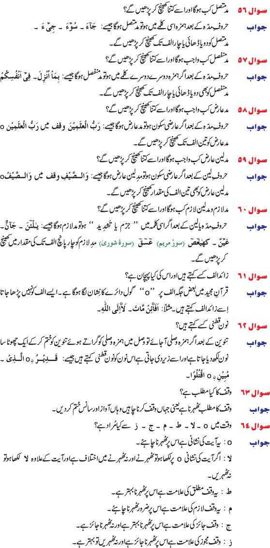 tajweed rules in urdu english