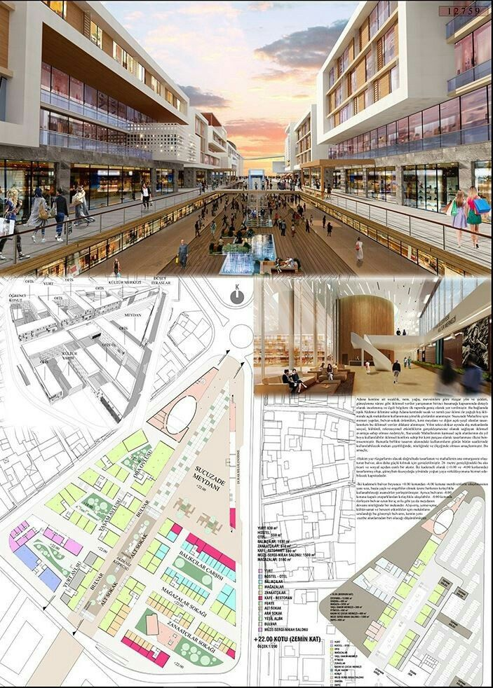 Adana Seyhan Sucuzade mahallesi kentsel dönüşüm mimari proje yarışması 2. Mansiyon