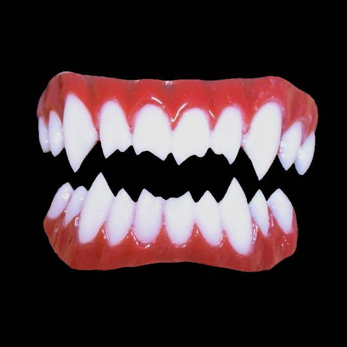 Lucius double vampire fangs have that little something extra to get your point across. Movie quality veneer costume teeth. Includes upper and lower piece. Dental Distortion's new generation of fake co