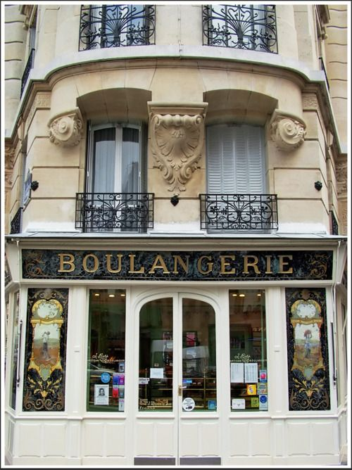 """La Boulangerie, Paris  """"The Bakery on the Corner, Paris"""" …… A most lovely French bakery, near Bastille, where we enjoyed buying our favorite baguettes, the 'Bazinette' freshly and lovingly made every day by the artisan baker L. Bazin. Rita Crane Photography ~ returning slowly"""
