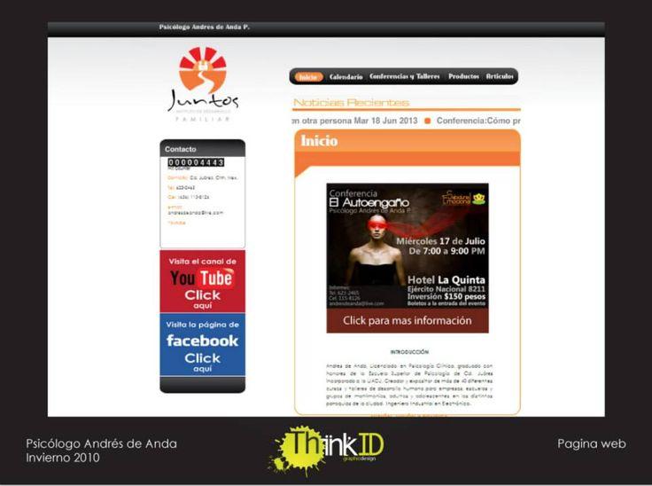 Pagina Web para el Psicólogo Andrés de Anda P. En linea desde el 2010